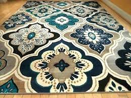 turquoise area rugs round rug target pad