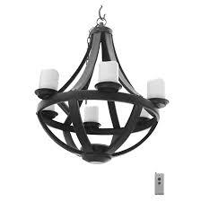 chandelier for gazebo battery operated led black