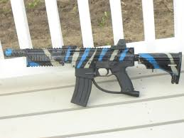 red tiger custom tippmann forum first actual paint job on a marker or anything of the type done small spray paint jobs on heavy duty machinery to coverup weld job but thats about it