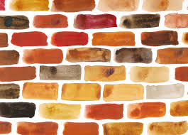 brick wall watercolour painting stock ilration ilration of building ilration 27208500