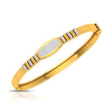 Mens Gold Bangles Designs Golden Doodle Diamond Gold Bracelet
