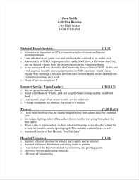 Exmples Activities On A Resume Examples