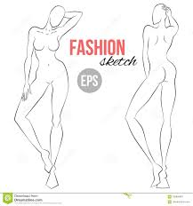 Body Template For Designing Clothes Women S Figure Sketch Different Poses Template For Drawing For