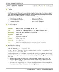 Brilliant Ideas Of Developer Resume Template Stunning Software