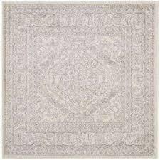 adirondack ivory silver 10 ft x 10 ft square area rug adirondack