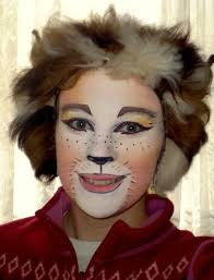 it s so wierd how much my face shape changed with this makeup giggles i looked in the mirr etcetera cats al makeup