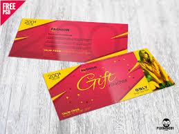 fashion gift voucher free psd voucher design fashion voucher psd gift voucher gift card free