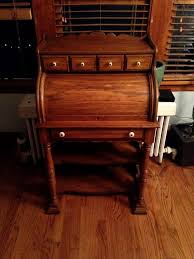 airy antique secretary s roll top desk with interior light