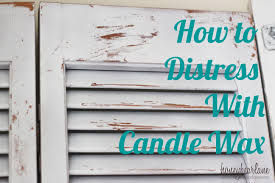 distressed white wood furniture. How To Distress With Candle Wax Distressed White Wood Furniture S