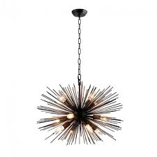 y decor 12 light black sputnik chandelier lz3349 12 ba the home depot for sputnik chandelier