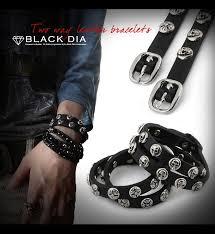 skull cross leather bracelet sb12 124
