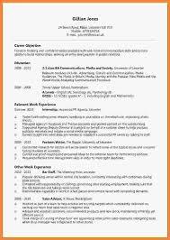 undergraduate cv example invoice example  related for 6 undergraduate cv example