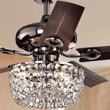Crystal Light Fixture For Ceiling Fan Angel 3 Light Crystal Chandelier 5 Blade 43 Inch Brown Ceiling Fan Optional Remote