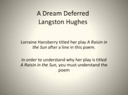 langston hughes poem ldquo harlem dream deferred rdquo  a dream deferred