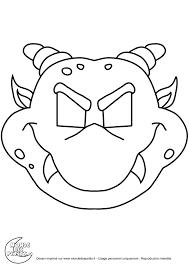 Masques Masque D Halloween Colorier