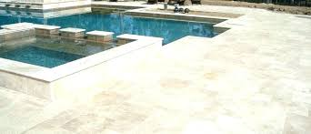 Tile Cost Pool Sample Deck Outdoor To Have Travertine Best Sealer In