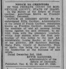 effie clements cardner--1948 Franklin Gardner - Newspapers.com