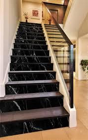 Stairway Wallpaper Design 3d Classic Black 884 Marble Tile Texture Stair Risers Aj