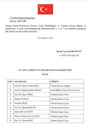 TRT Yönetim Kurulu, Resmi Gazete'de yayımlanan kararla değişti