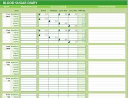 Excel Blood Sugar Log Blood Sugar Diary Excel Template Glucose Levels Tracker Etsy