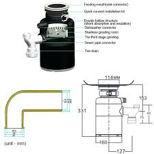 kitchen sink garbage disposal stuck food processor font crusher waste disposer stainless steel smell clogged drano