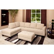 Overstock Living Room Sets Abbyson Living Claridge Fabric Sectional And Ottoman Set By