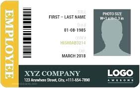 Work Badge Template Best Employee Card Template Images On
