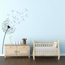 office wall stickers. Blowing Dandelion Flower Wall Decal Office Stickers