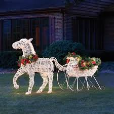 The Lighted Holiday Horse Drawn Sleigh Hammacher Schlemmer Outdoor Christmas  Decorations Amazon Clearance Decoration Ideas Amazing