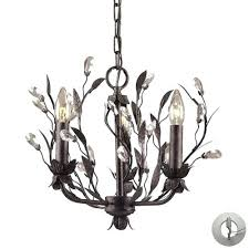 recessed light chandelier 3 la 3 light chandelier in deep rust and crystal droplets convert recessed