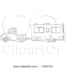 Fifth Wheel Black White Silhouette Clipart Free Collection