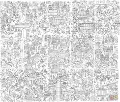 Giant Nyc Coloring Poster Coloring 365