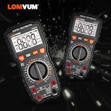 <b>LOMVUM</b> DM68 Ture <b>RMS</b> Digital Multimeter AC/DC Capacitance ...
