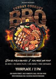 Barbecue Flyers Barbecue Bbq Flyer By Hotpin On Creativemarket Barbecue
