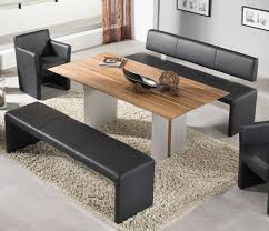 modern kitchen table with bench. Dining Room, Mesmerizing Room Tables With Bench 7 Piece Set Large Wooden Modern Kitchen Table E