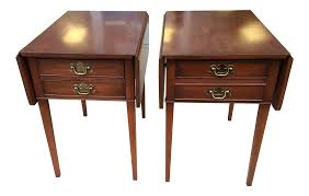 Henkel Harris Dining Table Henkel Harris Side Drop Leaf Cherry End Tables A Pair Chairish