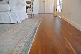 walnut hardwood floor. Long, Low View Of Walnut Flooring In Living And Dining Room Cabin Hardwood Floor