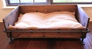 diy wooden industrial dog bed