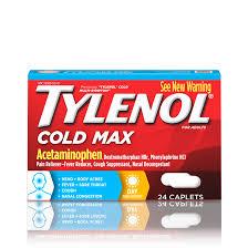 Tylenol Cold Dosage Chart Tylenol Cold Max Daytime Caplets 24 Ct Walmart Com