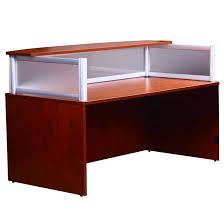 plexiglass reception desk cherry