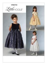 Little Girl Dress Patterns Gorgeous V48 Children'sGirls' RaisedWaist Dresses Sewing Pattern