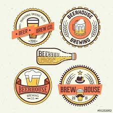 Label Design Free Template Beer Label Design Template Free Badges And Labels In Retro