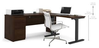 bormann l shape standing desk with height adjule table