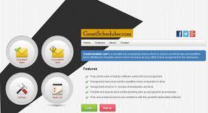 Online Work Schedule Access Greatscheduler Com Free Work Schedule Software