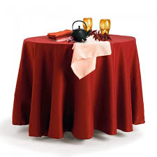holiday red round basic polyester tablecloth