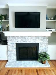 mosaic tile over brick fireplace how to whitewash a ideas refacing with slate
