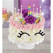 1 800 Flowers Birthday Wishes Flower Cake Unicorn 1 800 Flowers