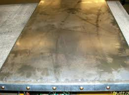 60 round tabletop zinc 36 x 60 wood table top