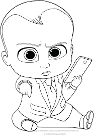 Boss Baby Coloring Pages To Print Out Jokingartcom Boss Baby