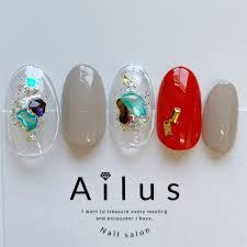 夏ハンドワンカラーシェルクリア Nail Salon Ailusのネイル